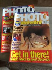 TWO 'PHOTO ANSWERS' MAGAZINES FROM FEBRUARY AND JULY 1998
