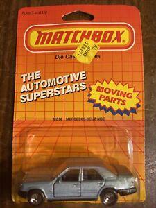 1987 MATCHBOX SUPERFAST MB 58 MERCEDES-BENZ 300E NEW ON CARD