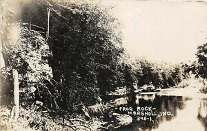 H71/ Marshall Indiana RPPC Postcard c1910 Frog Rock Geology 126