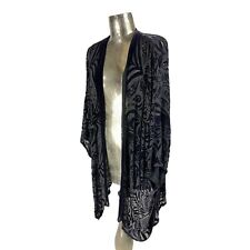 Charles Patricia Lester Handcrafted in Wales Silk Kimono Style Top Jacket Womens