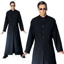 Adult Matrix Neo Mens Cyber Man Halloween Fancy Dress Party Costume Robe+Glasses