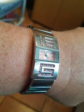Ladies Stainless Steel Pink Crystal Watch