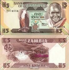 Sambia Pick-Aantal: 25d UNC 1988 5 Kwacha Eagles