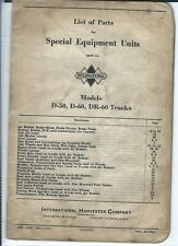 Ih International D-50 D-60 Dr-60 Truck Special Equipment Unit Parts List (T2638)
