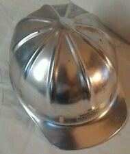1959 Vintage Apex Safety Helmet Aluminum Construction Hard Hat Leather Band USA