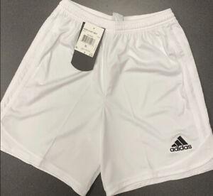 Youth Boys adidas Aquilla Climalite White XL Soccer Shorts