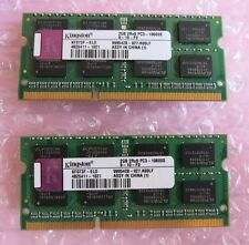 2 x KINGSTON KF073F-ELD 2 GB PC3-10600 DDR3-1333MHz CL9 204-Pin Laptop RAM di memoria