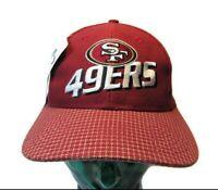 NOS VTG 90s San Francisco 49ers Hat Logo Athletic Pro Line New w/ Tags Hook Loop