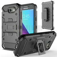Fr Samsung Galaxy J3 Emerge/Prime Shockproof Armor Holster Case Belt Clip Cover