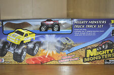 MIGHTY MONSTER TRUCK TRACK SET by MOTOR MAX (red truck) action set-NEW/SEALED