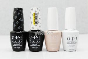 OPI Soak Off Gel Nail French Manicure Kit 4pc: BASE+TOP+FUNNY BUNNY+BUBBLE BATH