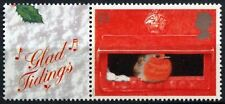 GB 2000, 19p Christmas MNH+Glad Tidings Label From LS2 Smilers Sheet#D58087