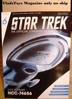 Eaglemoss Star Trek *Magazine only no ship* Issue #6 USS Voyager NCC-74656