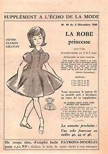 ▬► Patron Écho de la Mode - 1960 N°49 - Tailles 5 6 7 ans - Robe princesse