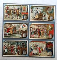 Set of 6 - 1892 Liebig Victorian Ad Trade Cards Carnival of Venice Series Nice!