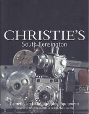CHRISTIE'S CAMERAS LEICA NIKON ZEISS IKON VOIGTLANDER SUBMINIATURE Catalog 2001