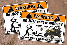 CAN AM Commander UTV 4x4 Off Road Warning Sticker Mud
