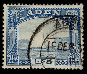 ADEN GVI SG5, 2½a bright blue, FINE USED.