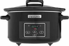 Crock-Pot CSC052 Lift & Serve Digital Slow Cooker Hinged Lid, Programmable Timer