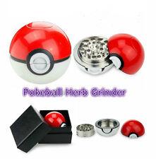 55mm 3 Piece Pokeball Pokemon Herb Spice Grinder Aluminum Herb Crusher Poke Ball