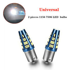 2x White BA15S 1156 P21W 48SMD Reverse Back Up Turn Signal Brake Light LED Bulb