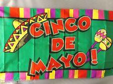 CINCO DE MAYO 3X5' FLAG NEW CELEBRATING CINCO DE MAYO MAY 5th HISPANIC HOLIDAY