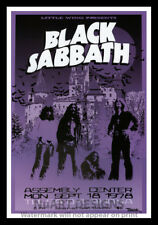 """Framed Vintage Style Rock 'n' Roll Poster """"BLACK SABBATH, 1978"""";12x18"""