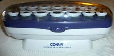 Conair Instant Heat Hairsetter Hot Rollers and Clips  Velvet Flocked Multi Size