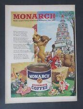 Original Print Ad 1949 MONARCH COFFEE National Distributer