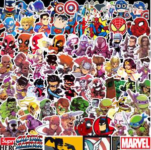 100pcs Marvel Superhero Stickers Batman Spiderman Superman Hulk Kids Avengers