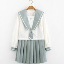 Japanese School JK Uniform Girls Sailor Suit Blouse Shirt Pleated Skirt Outfit
