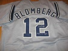 Yankees Ron Blomberg signed Jersey 1st AL DH 4/6/73 inscription W/COA