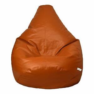 London Leather Bean Bag Cover in Tan, Crunch TAN Brown
