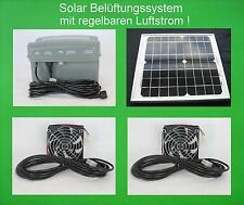10W Solarlüfter Solar Lüfter Belüfter Solarventilator Akku Batterie Gewächshaus