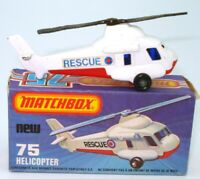 LESNEY MATCHBOX NO. 75 RESCUE HELICOPTER - EXC. & BOXED