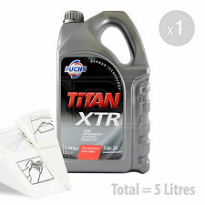 Car Engine Oil Service Kit / Pack 5 LITRES Fuchs TITAN XTR 5w-30 5L