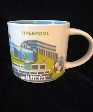Starbucks Liverpool YAH Mug Albert England Guitar Mersey Soccer You Are Here New