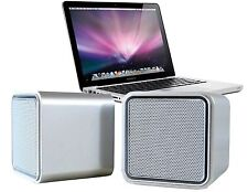 iLuv Sound Cube USB Micro Speakers Silver Finish for MacBook Laptop ISP160