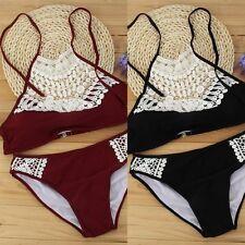 Women Push-up Bikini Padded Bra Set Bandage Swimsuit Swimwear Beachwear BathingX