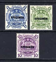 "1950 - COAT of ARMS with overprint ""SPECIMEN""- SET of 3 - MINT"
