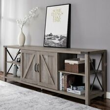 TV Stand Wood & Metal TV  Entertainment Cente.Farmhouse w/storage. Up to 78