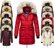 Marikoo Damen Winter Jacke FVS2 Winter Parka Warme Jacke Stepp Mantel CHASKAA