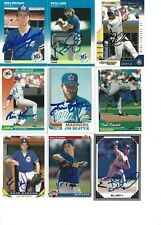 Seattle Mariners 9 Card Autographed Lot