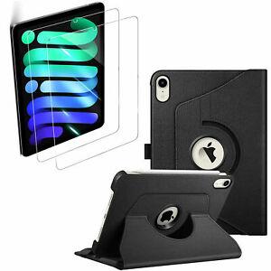 "For iPad Mini 6th Generation,8.3"" 2021 Case Folio Fold Cover + Tempered Glass"