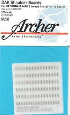 Archer German DAK Uniform Shoulder Boards Recon Troops Transfers Decals FG35054D