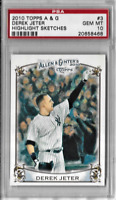 Derek Jeter 2010 Topps Allen & Ginter Highlight Sketches Graded  PSA Gem Mint 10