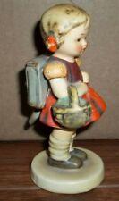 "New ListingHummel Figurine Girl Basket & Backpack Germany No Box 4.5"" 81/20"