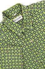 GUY LAROCHE PARIS Casual Shirt Men's 3 MEDIUM Green Navy Yellow Resort Print