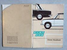 1971 FIAT 124 Saloon / Estate car owner handbook versione II + supplement III