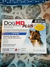 DogMD Plus Flea & Tick Topical  For Dogs 23-44lbs *6 Month Supply*